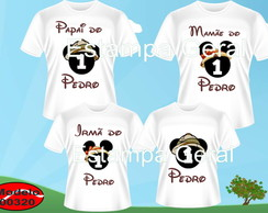 Kit Camiseta Aniversario Mickey Safari