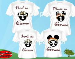 Kit Camiseta personalizada Mickey Safari