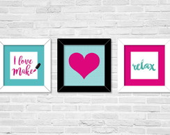 3 posters 20 x 20 cm - I love make