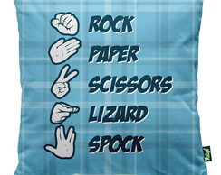 Almofada rock paper scissors lizard spo