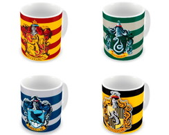 Kit 4 canecas harry potter casas