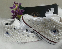 All Star Perolas e Strass Infantil