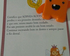 Estojo dental e certificado Fada do Dent