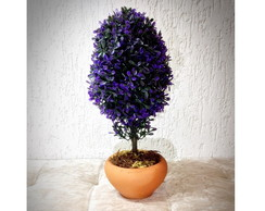 Bonsai Oval Roxo (artificial)