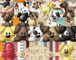 Kit Scrapbook Digital - Cachorrinhos