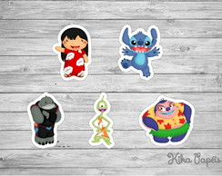 Aplique Lilo e Stitch Cute 3,5 cm