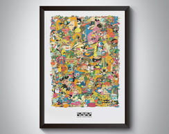 "Quadro ""Cartoon Network Personagens"""