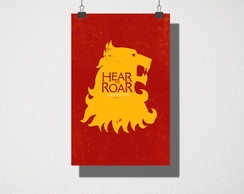 Poster A3 Game of Thrones Lannister