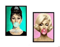 Quadros Audrey & Marilyn Chiclete(color)
