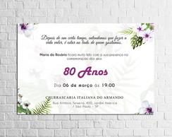 Frases Convite Aniversario 80 Anos Elo7