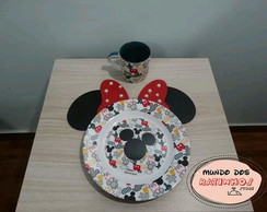 Sousplat - Porta Pratos Mickey ou Minnie