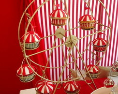 Cup Cake Decorado Tenda de Circo