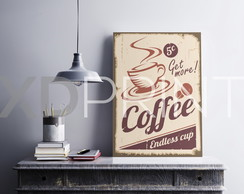 Quadro placa Decorativa MDF - Coffee