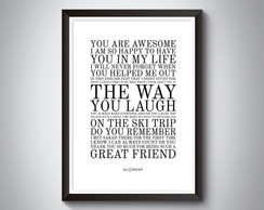 "Quadro ""You Are Awesome I am So Happy"""