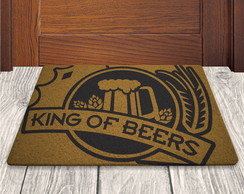 Tapete Capacho King Of Beers - Fundo Ouro - 60x40cm