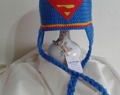 Touca de Croche Superman Baby