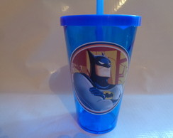 Copo com Canudo 550ml Batman