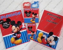 Kit Colorir + adesivos do Mickey