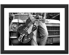 Quadro Guitarra Musica Rock Blues Retro