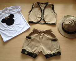 fantasia safari minnie militar