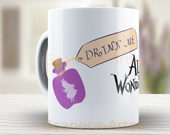 Caneca Alice in wonderland - Xicara 762