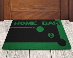 Tapete Capacho Home Bar - Preto - 60x40cm