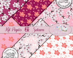 Kit Papel Digital Sakura