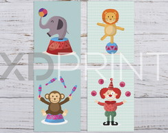 Placa Decorativo PS -KIT Infantil Circo