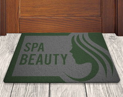 Tapete Capacho Spa Beauty - Cinza - 60x40cm