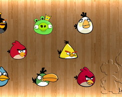 100 Apliques Angry Birds