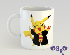 Caneca Pikachu Harry Potter