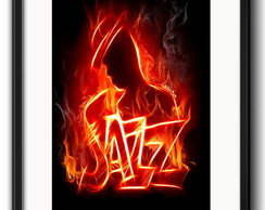 Quadro Jazz Music com Paspatur