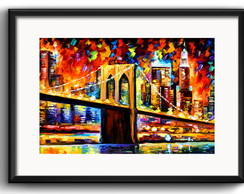 Quadro New York Brooklyn Arte Paspatur