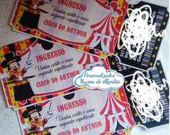 Convite Ingresso - Circo do Mickey