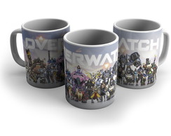 Caneca Porcelana Gamers Overwatch