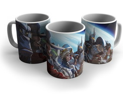 Caneca Porcelana Gamer Overwatch