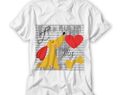Camiseta Infantil I love My Dog