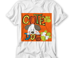 Camiseta Infantil Cute Dog