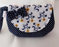 Mini Clutch - Tema Floral e Poá
