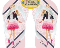 Chinelo Personalizado Barbie!