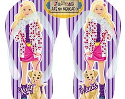 Chinelo Personalizado Barbie Fashion!