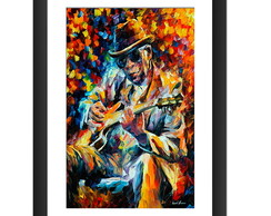Quadro John Lee Hooker Art Afremov Blues