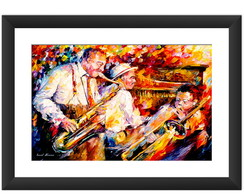 Quadro Afremov Musica Jazz Art Decoracao