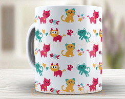 Caneca Cats - Gatos coloridos 815