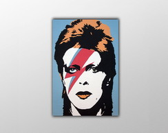 Placa Decorativa David Bowie - 30x20cm