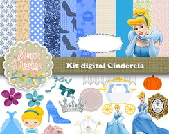 kit papel digital Cinderela