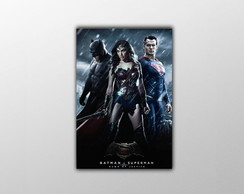 Placa Decorativa Batman x Superman 30x20