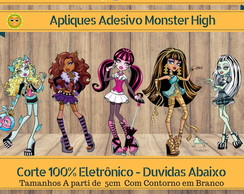 Apliques Adesivos Monster High