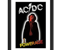 Quadro ACDC Powerage Bandas Rock Musica