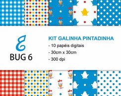 Kit papel digital Galinha Pintadinha